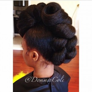 Natural Hair Faux Hawk done by Dominique Nicole