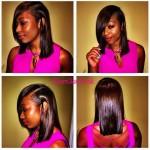 Silk press done by LA Hairstylist Glam Freak