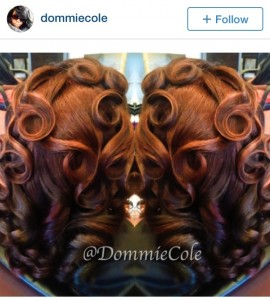 @DommieCole ombre hair color with pin curls