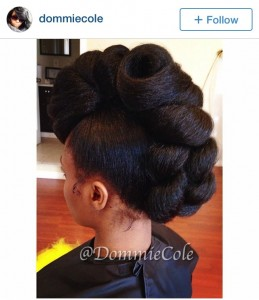 @DommieCole Natural Hair mohawk