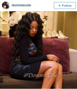 @DommieCole hair styled for photoshoot