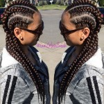 Glam Braids done by Glam Freak (LA Hairstylist)