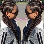 Glam Braids done by Glam Freak (LA Hairstylist)