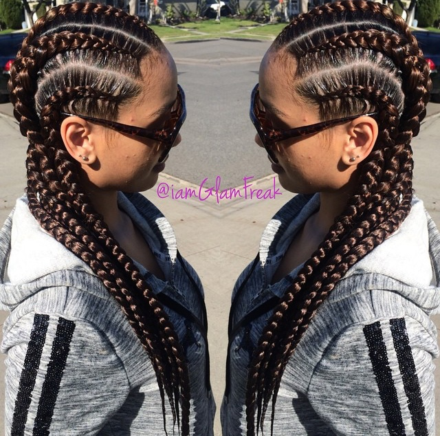 Glam Braids done by Glam Freak