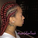 Glam Braids on Keyshia Cole done by Glam Freak (LA Hairstylist)
