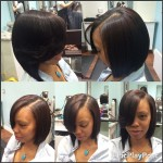 Natural Hair bob cut done by Chaffon Cambell