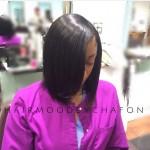 Sleek natural hair bob