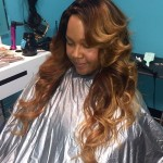 Sew In with curls and custom color