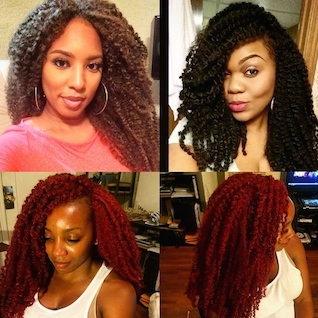 Crochet Braids La : Crochet Braid Installation with Curls