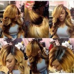 Sew in with lace closure and custom color
