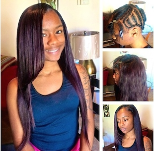Sew In with Long Hair