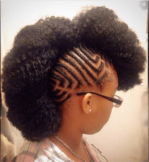 Braided Faux Mohawk Hairstyle