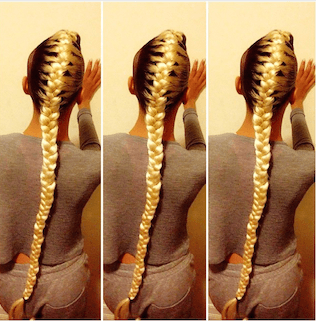 Long Blonde French Braid