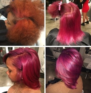 Color correction from Orange to Red Hair color