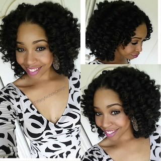 Crochet Braid Installation with Curls