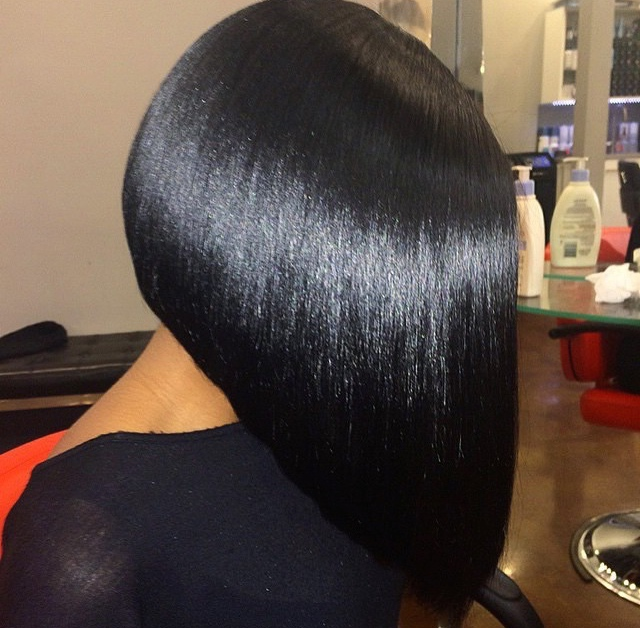 Silk press bob cut done by @HairByChantellen on Natural Hair