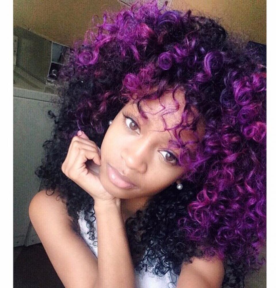 Purple Natural Hair