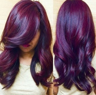 Purple Hair with Curls