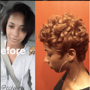 @Coldina_ Pixie Cut Before and After