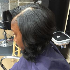 Curly bob sew in