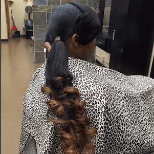 Lon Hair Ponytail with hair extensions