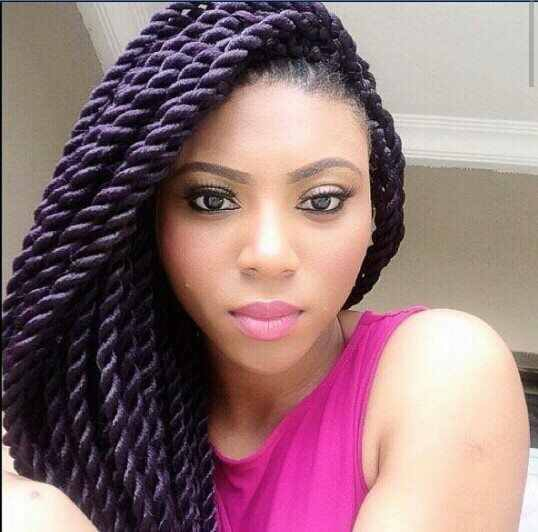 Purple Senegalese Twists Rope