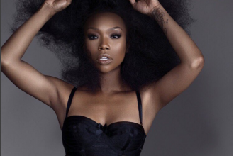 Brandy Norwood with natural hair