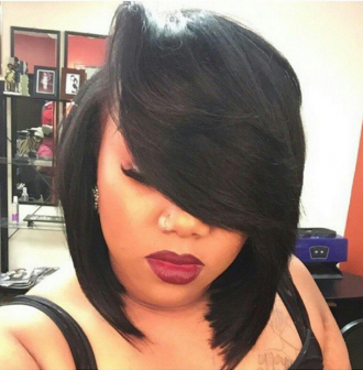 Sexy Bob styled by @HairArtByDominique