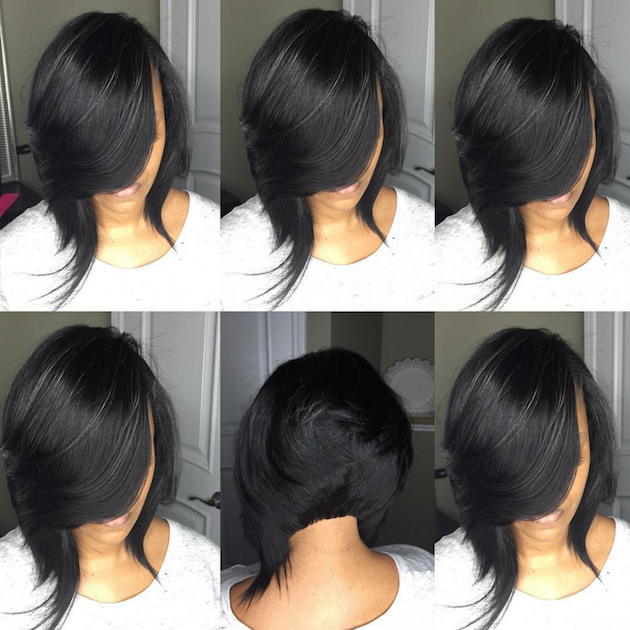 How to achieve a banging bob with a quick weave voice of hair sexy bob styled by hairartbydominique solutioingenieria