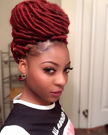 How to Achieve the Perfect bun with Faux Locs