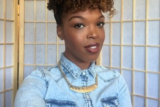 Easy Perm Rod Up-do for Date Night