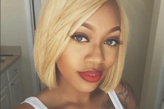 Blonde bob styled by @JasmineNikol_