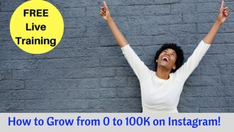 Live Training on How to Grow to 100K on Instagram