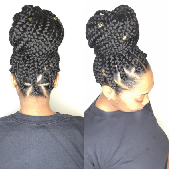 Jumbo Box Braid Tutorial with Triangle Parts