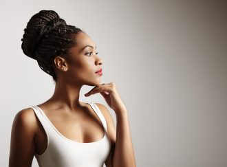 Woman wearing protective styles