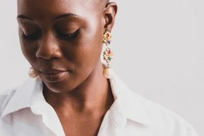 Black woman with bald head