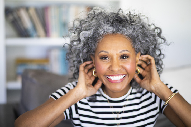 Gray and Gorgeous Black Women wearing their gray hair