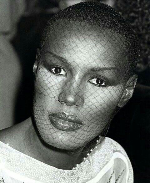 Grace Jones bald head.